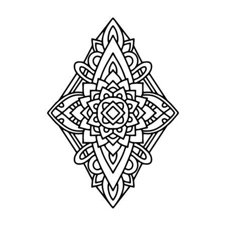 Tribal mandala icon. Outline tribal mandala vector icon for web design isolated on white background Ilustração