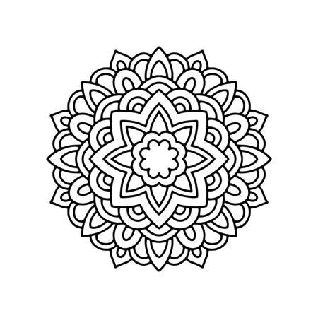 Arabic mandala icon. Outline arabic mandala vector icon for web design isolated on white background Ilustração