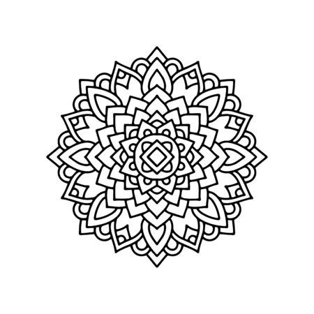 Yoga mandala icon. Outline yoga mandala vector icon for web design isolated on white background Ilustração
