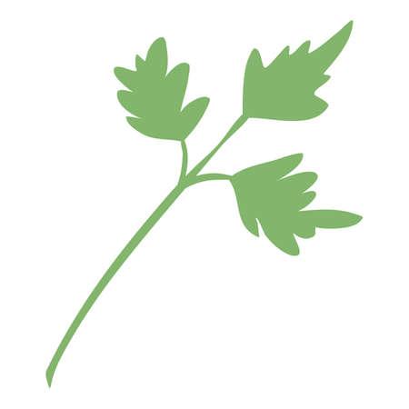 Farm eco parsley icon, cartoon and flat style