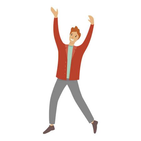 Smiling student boy icon, cartoon style 向量圖像