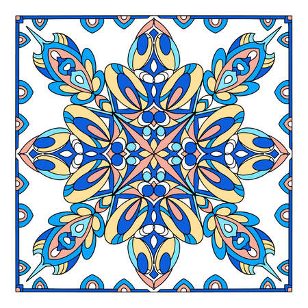 Wall islamic ornament icon, hand drawn and outline style