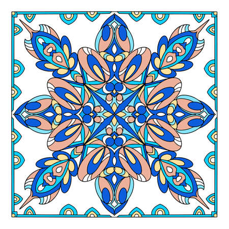 Muslim ornament icon, hand drawn and outline style