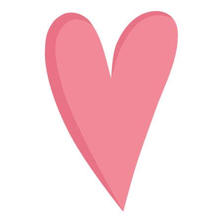 Heart loving you icon, cartoon style