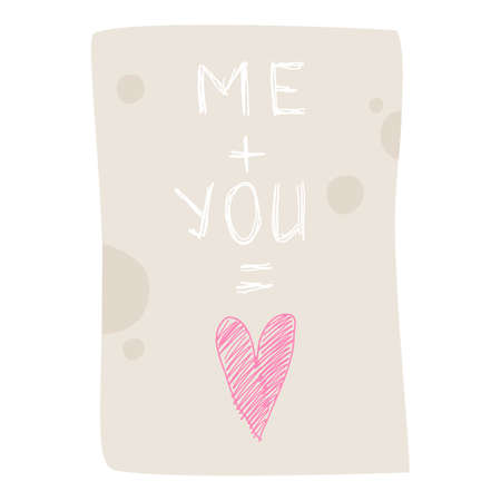 Me plus You is Love icon, cartoon style