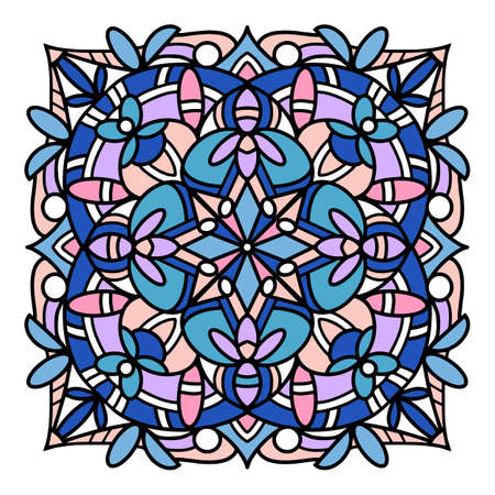 Islamic mandala icon, hand drawn and outline style