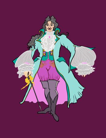 Color portrait of an aristocrat of the Baroque era