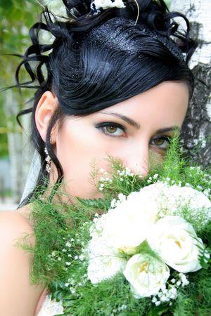 bride in wedding dress Banque d'images
