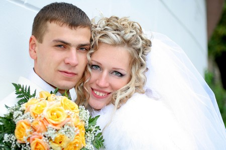 wedding pictures of just married couple