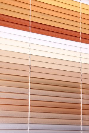horizontal blinds as a background Stock Photo