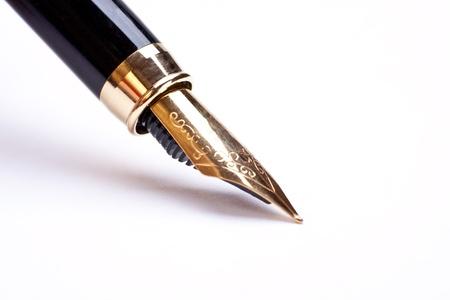 fontana: penna stilografica isolato su sfondo bianco Archivio Fotografico