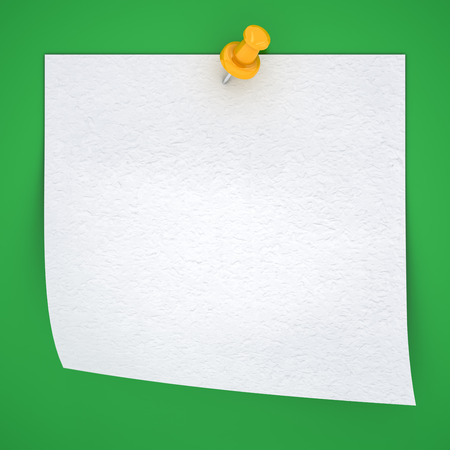 sticky paper on a greenbackground