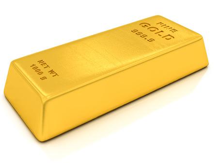 gold ingots on a white background
