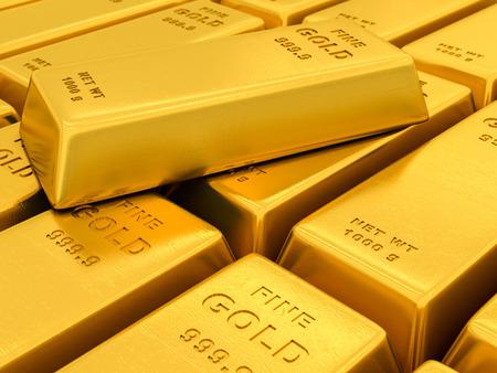 deposit slip: gold ingots on a white background