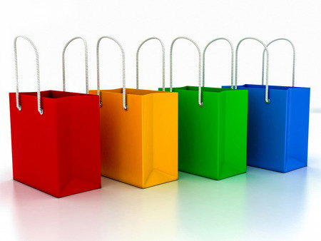 3d shopping bag on a white background