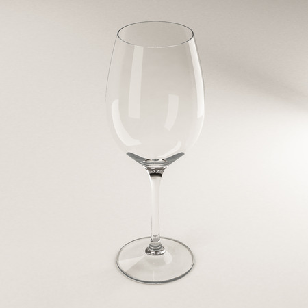 empty glass of Wine on a white background