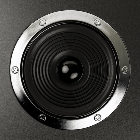 party system: sound speakers stereo system Hi-Fi Stock Photo