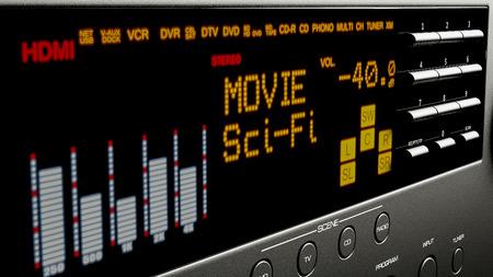 home cinema: home cinema system multimedia 3d illustration Stock Photo