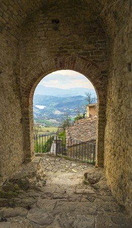 appennino: Panoramic view from the medieval village of Montefalcone Appennino (Italy)