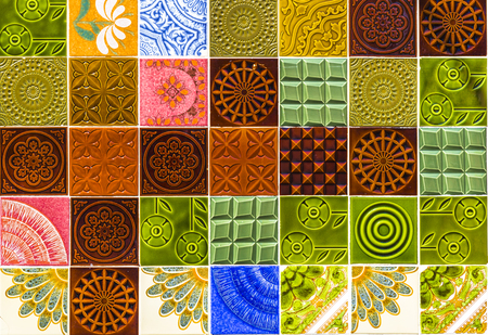 Seamless pattern with portuguese tiles. Azulejos