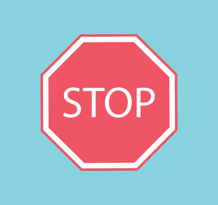 empty sign: Vector stop sign red icon illustration. Red Stop symbol.