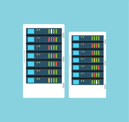 storage room: Vector high tech internet data center server. Server vector room. Server icon illustration. Technology, web, internet and technology. Cloud data storage