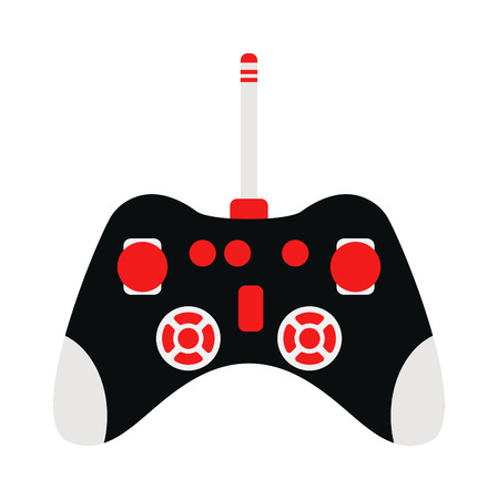 game console: Game console joystick vector illustration. Game console joystick isolated on white background. Game console joystick vector icon illustration. Game console joystick