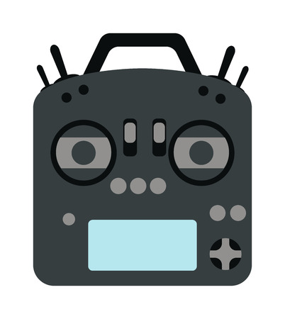console: Game console joystick vector illustration. Game console joystick isolated on white background. Game console joystick vector icon illustration. Game console joystick