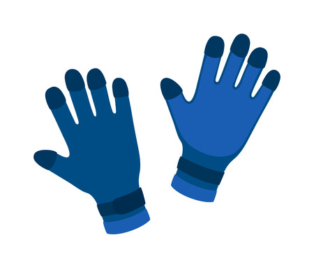 leather gloves: Water gloves cartoon vector illustration. Diver water gloves isolated on white. Water gloves underwater accessory. Vector water gloves. Diver water gloves couple