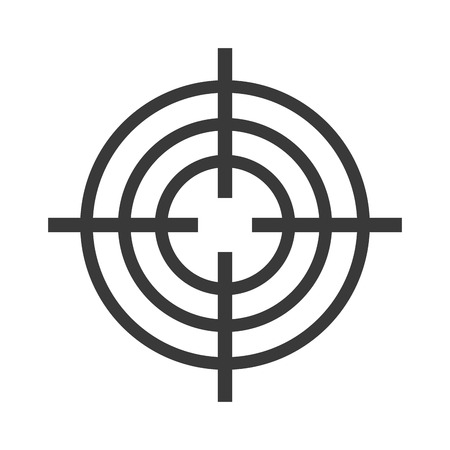 shooting at goal: Target circle for archery. Target circle shooting target logo vector. Target circle arrow center competition goal and accurate bullseye shot perfect target circle. Board hit leisure black sign design.