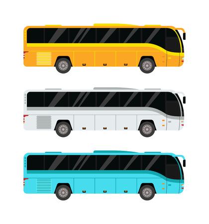 Ville bus public et le transport des véhicules bus de la ville vecteur. bus de la ville publique de passagers Voyage vecteur et bus de la ville trafic vecteur voyage commercial tournée avant. Ville rue vecteur de trajet en bus voiture municipal.