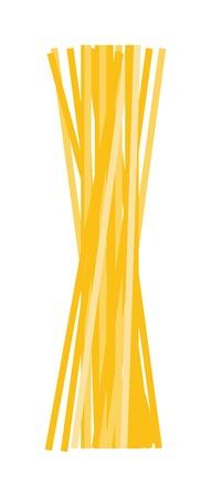 italian pasta: Spaghetti or capellini pasta transparent package isolated on white background. Vector illustration spaghetti italian cuisine traditional pasta food. Diner spaghetti noodle nutrition gourmet pasta. Illustration