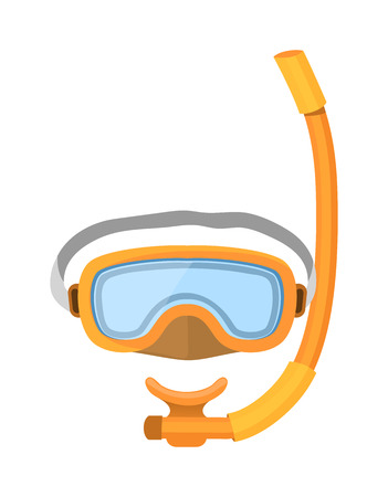 underwater sport: Scuba diver mask vector equipment. Sport underwater diver mask vector, water sea and diving vector flashlight, mask and snorkel. Diving diver mask swimming symbol aquatic adventure.