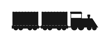 freight traffic: Vector black silhouettes of trains. Trains silhouette locomotives with different wagons. Trains black silhouette locomotive transportation and trains silhouette carriage freight sign rail traffic.