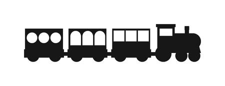 Vector Les silhouettes noires des trains. Trains silhouette locomotives avec différents wagons. Trains silhouette noire transport locomotive et les trains silhouette trafic transport fret signe rail. Banque d'images - 57972894