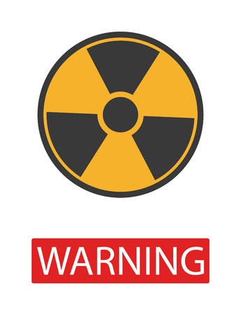 radiation sign: Danger radiation warning hazard symbols. Big set danger radiation sign vector illustrator. Danger radiation sign safety warning collection risk stop danger sign. Security toxic yellow triangle sign.