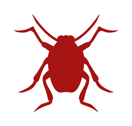 zoology: Beetle bug icon isolated on white background wildlife animal vector bug icon. Nature beetle bug and zoology beetle icon. Wildlife insect beetle silhouette icon.
