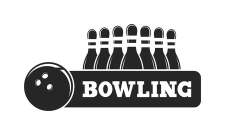 bowling strike: Vector set of bowling logos, bowling logo emblems and bowling logo design elements. Bowling logo logotype templates and bowling logo badges. Bowling logo wings victory, bowling ball sport item.