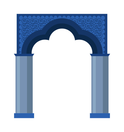 column arch: Arch vector icon isolated and architecture ancient frame arch. Column entrance design arch and arch classical construction. History antique culture pillar exterior facade arch