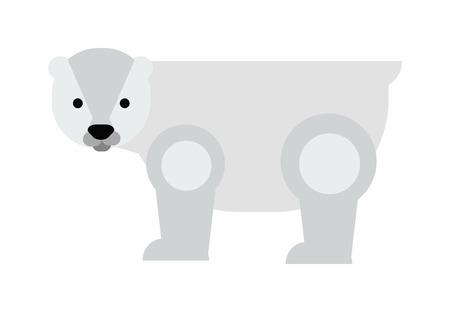 oso blanco: De dibujos animados oso polar blanco y la ilustración de dibujos animados oso polar. blanco dibujos animados carácter lindo del oso polar y salvaje oso de dibujos animados vector de animales. oso de hielo de los animales salvajes. De dibujos animados oso polar