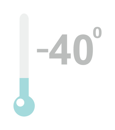 temp: Cold thermometer temperature icon vector illustration and thermometer symbol. Cold indicator temperature thermometer and degree instrument scale cold temperature thermometer Cold weather Illustration