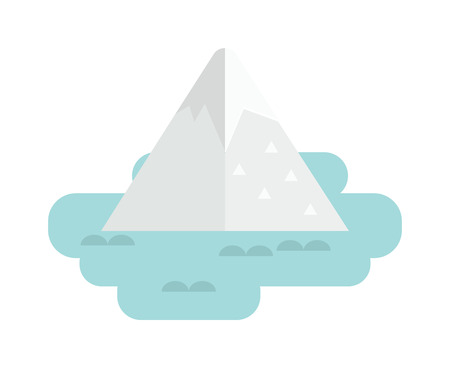 freeze: Iceberg apparently cheating, very big underwater iceberg in middle of ocean and cold underwater nature blue, landscape iceberg. Vector iceberg antarctica freeze and winter mountain melting iceberg. Illustration