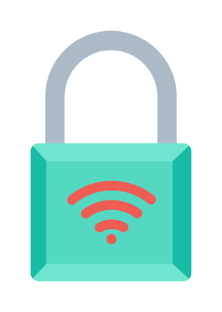 wifi access: Lock wifi internet icon and security padlock protection lock. Safety password sign lock privacy element and access shape lock. Private lock set safeguard equipment vector collection. Illustration