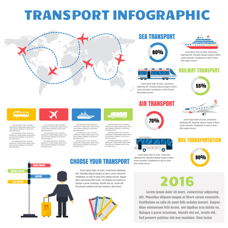 moyens de communication: Transports ensemble infographique avec des graphiques et de transporter d'autres éléments infographiques. Vector illustration transports informations infographique définir la carte d'affaires signe voiture collection infographique et de transport. Illustration