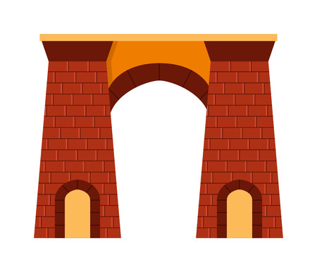 column arch: Arch vector architecture ancient frame arch. Column entrance design arch and classical construction arch. History antique culture pillar exterior facade arch. Ornament gateway monument. Illustration