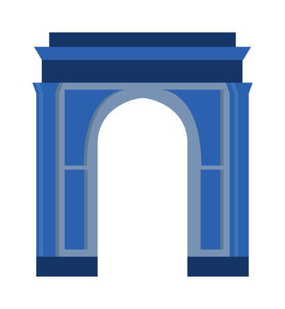 frontage: Arch vector architecture ancient frame arch. Column entrance design arch and classical construction arch. History antique culture pillar exterior facade arch. Ornament gateway monument. Illustration