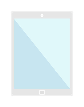 tablet computer: Tablet computer screen isolated screen isolated digital technology vector smartphone icon. Screen tablet smartphone computer, screen tablet computer smartphone communication.