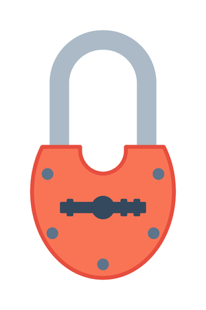 safeguard: Lock icon and security padlock protection lock. Safety password sign lock privacy element and access shape open lock. Private lock safeguard modern firewall equipment vector icon