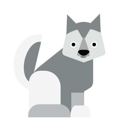 eskimo dog: Eskimo dog white samoyed puppy barking and eskimo dog vector cartoon animal. Eskimo dog cute samoyed canine purebred pet and fluffy husky companion eskimo dog. Friend furry husky puppy.