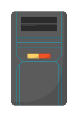 ワイヤレス キーボードとデスクトップ コンピューター ベクトル フラット イラストで現代のデスクトップ コンピューター。デスクトップ コンピューター技術画面モニターとオフィス ワイド無線通信デスクトップ コンピューター。